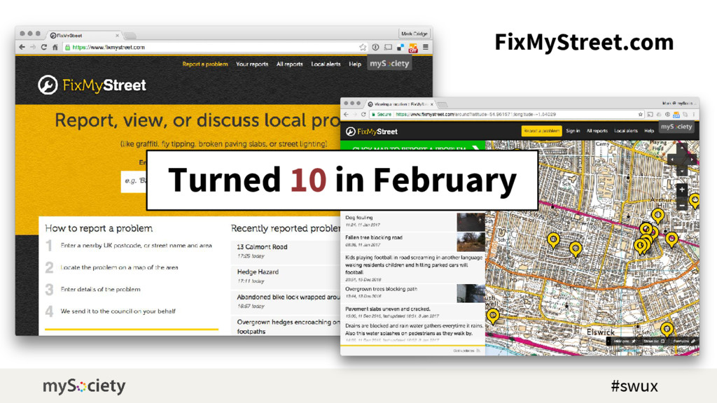 FixMyStreet.com Turned 10 in February #swux
