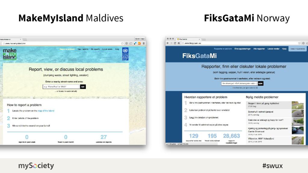 MakeMyIsland Maldives FiksGataMi Norway #swux
