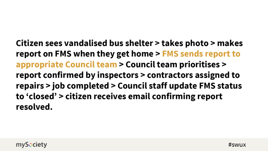 Citizen sees vandalised bus shelter > takes pho...