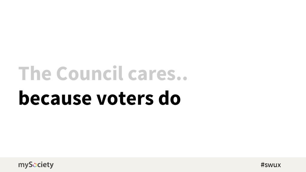 The Council cares.. because voters do #swux