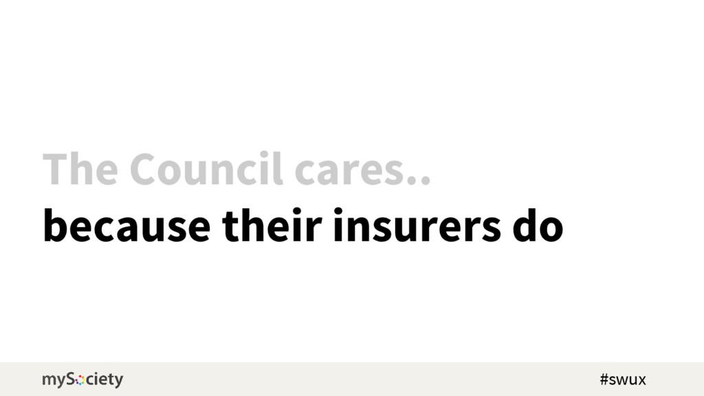 The Council cares.. because their insurers do #...