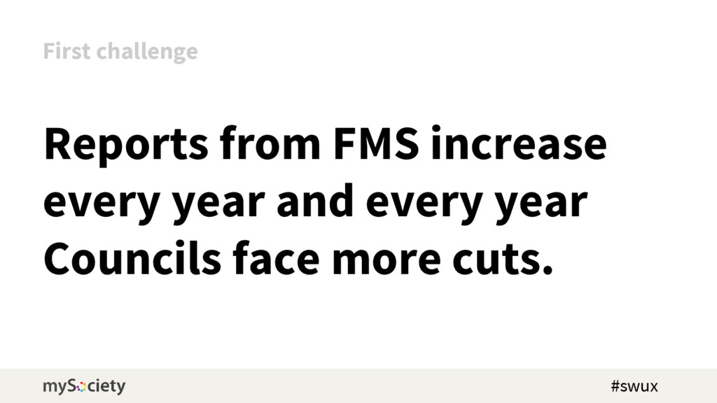 Reports from FMS increase every year and every ...