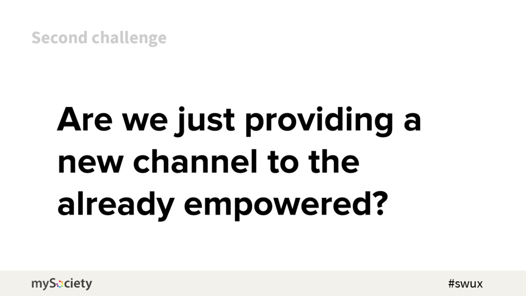 Second challenge #swux