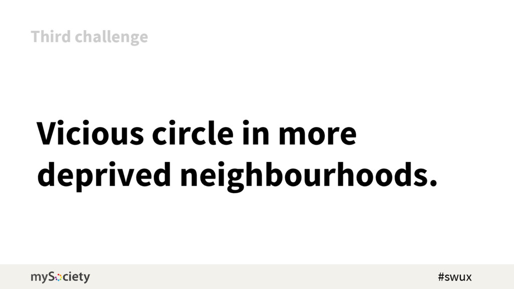 Vicious circle in more deprived neighbourhoods....