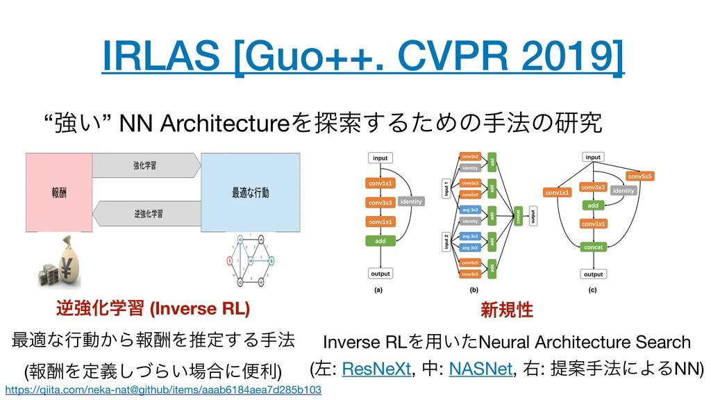 "IRLAS [Guo++. CVPR 2019] ""ڧ͍"" NN ArchitectureΛ୳..."