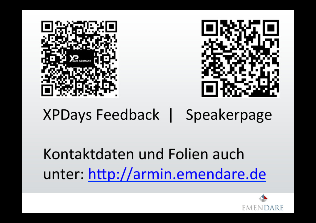 XPDays Feedback | Speakerpage Kontaktdaten und ...