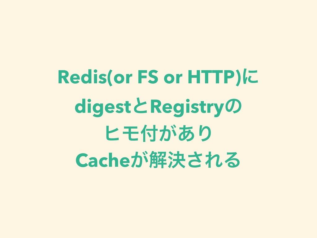 Redis(or FS or HTTP)ʹ digestͱRegistryͷ ώϞ͕͋Γ C...