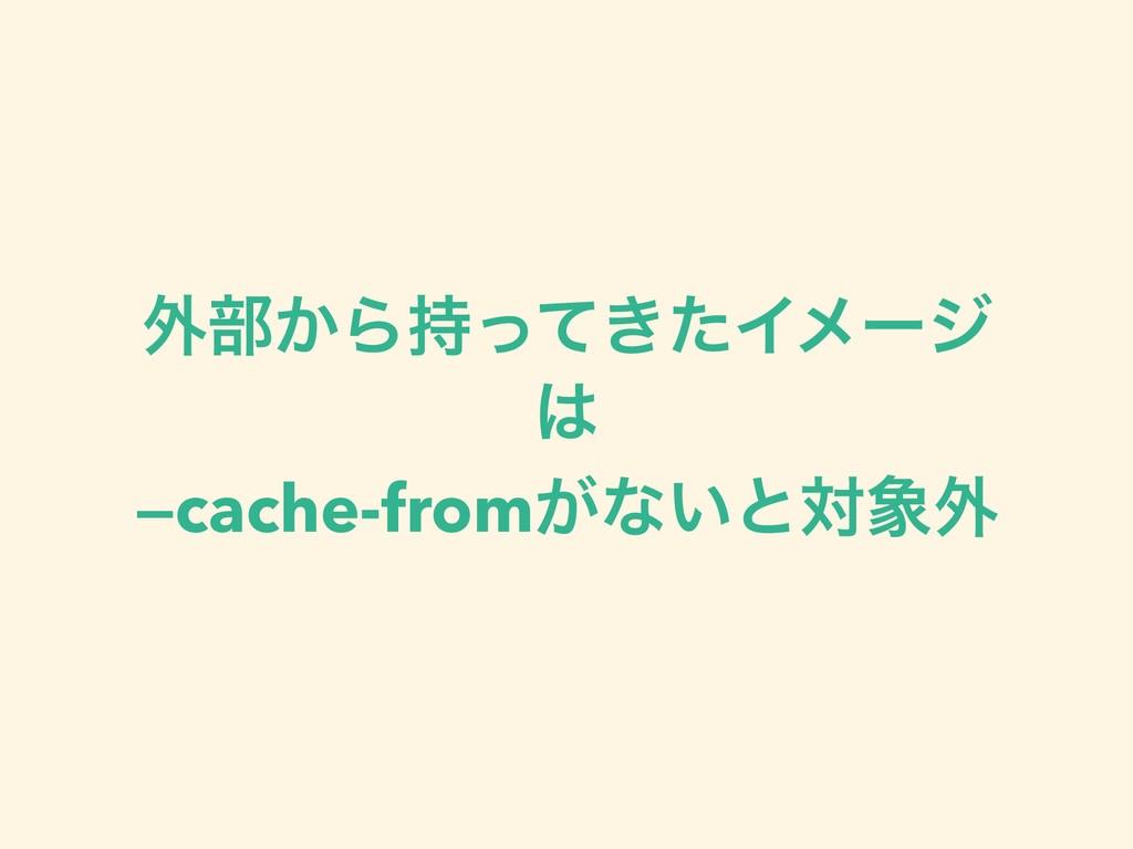 ֎෦͔Β͖ͬͯͨΠϝʔδ  —cache-from͕ͳ͍ͱର֎
