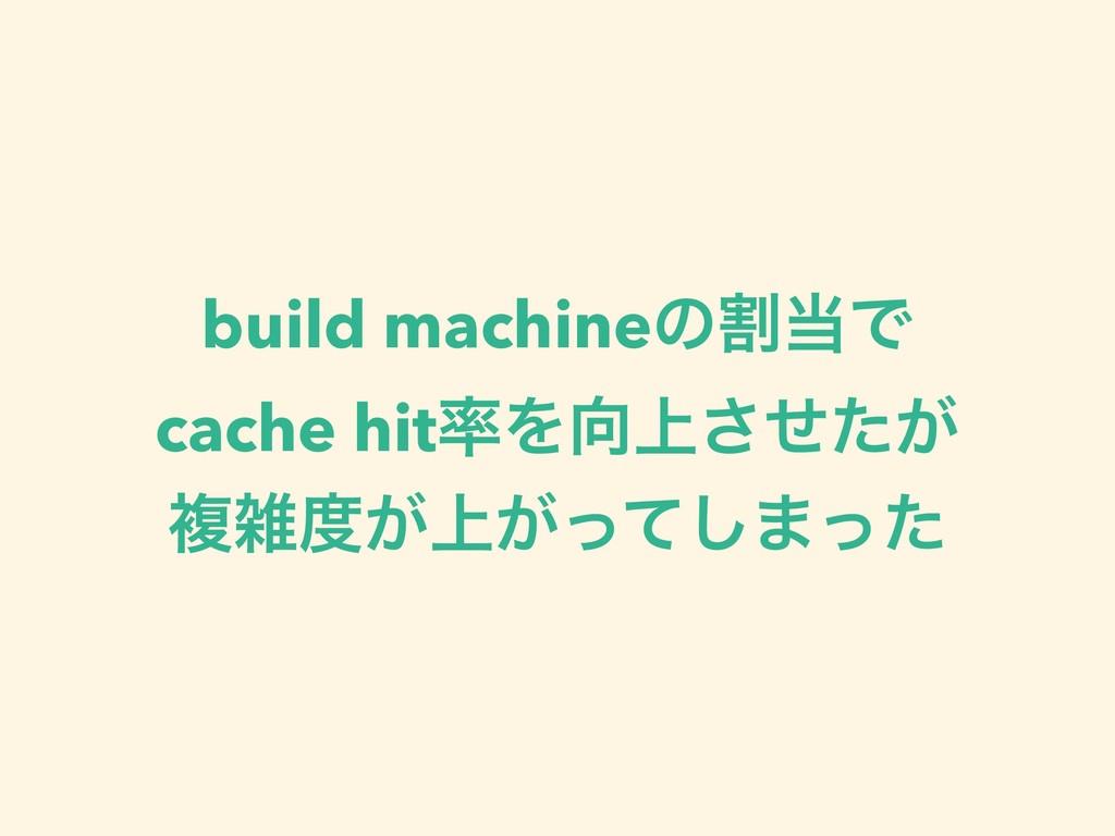build machineͷׂͰ cache hitΛ্͕ͤͨ͞ ෳ্͕͕ͬͯ͠·ͬͨ