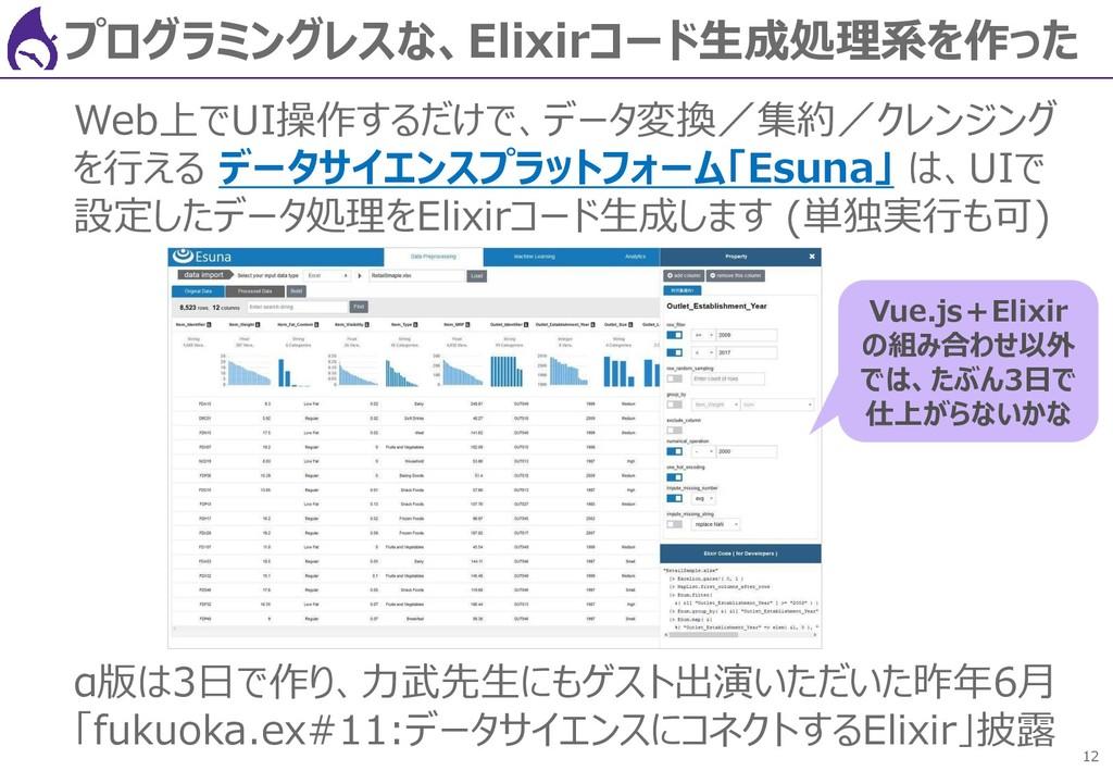 12 プログラミングレスな、Elixirコード生成処理系を作った Web上でUI操作するだけで...