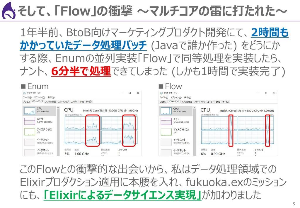 5 そして、「Flow」の衝撃 ~マルチコアの雷に打たれた~ 1年半前、BtoB向けマーケティ...