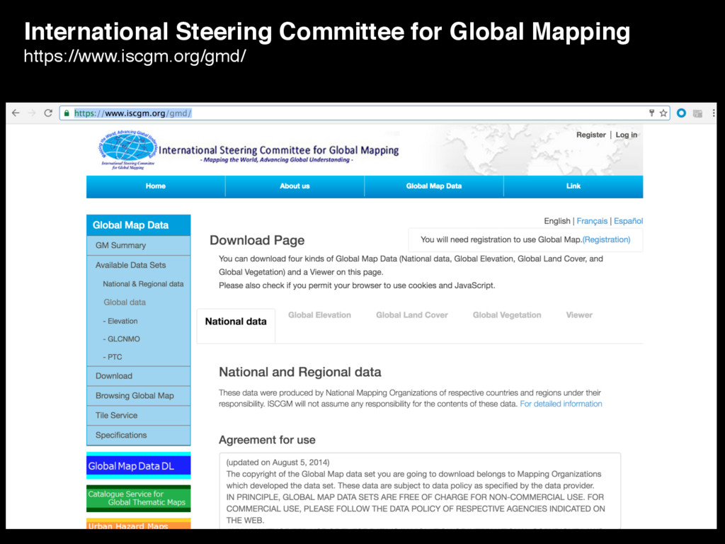 International Steering Committee for Global Map...