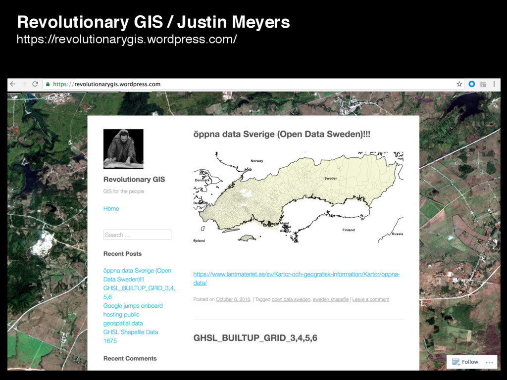 Revolutionary GIS / Justin Meyers https://revol...