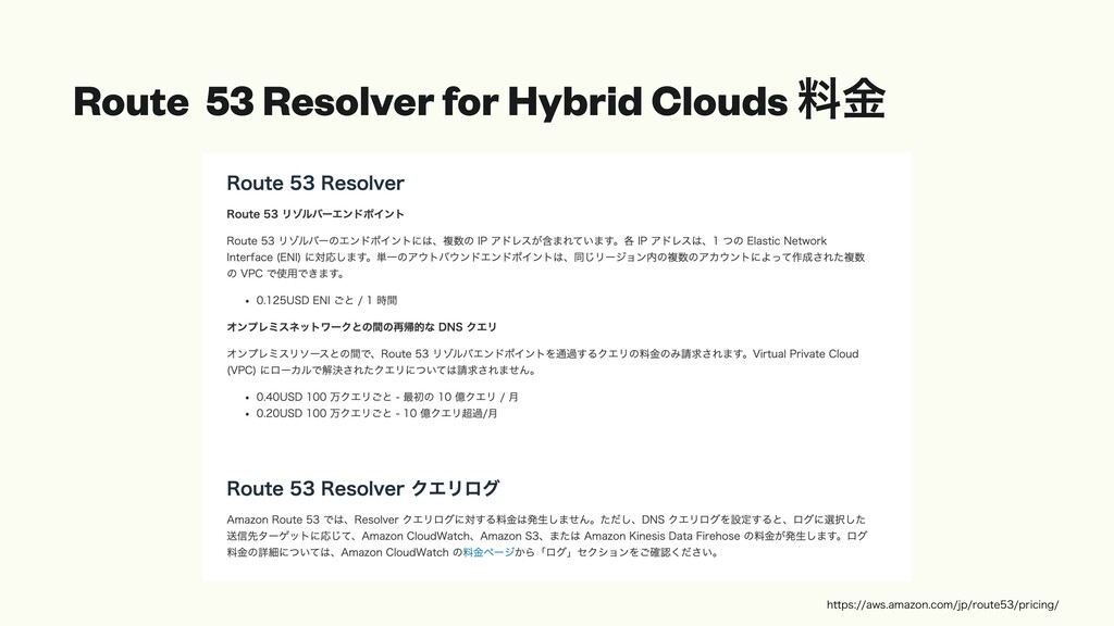 Route 53 Resolver for Hybrid Clouds ྉۚ IUUQT...