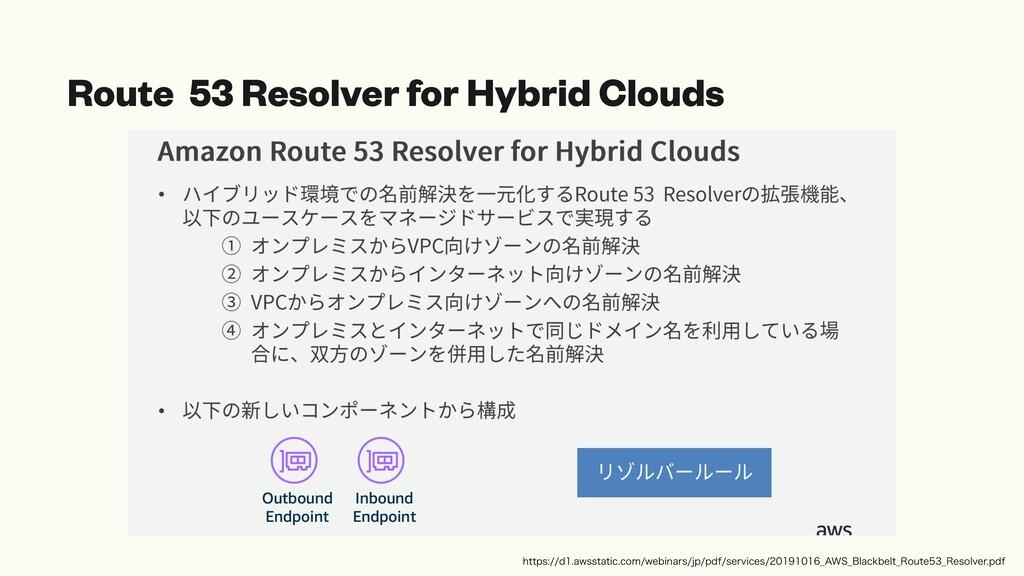 Route 53 Resolver for Hybrid Clouds IUUQTE...