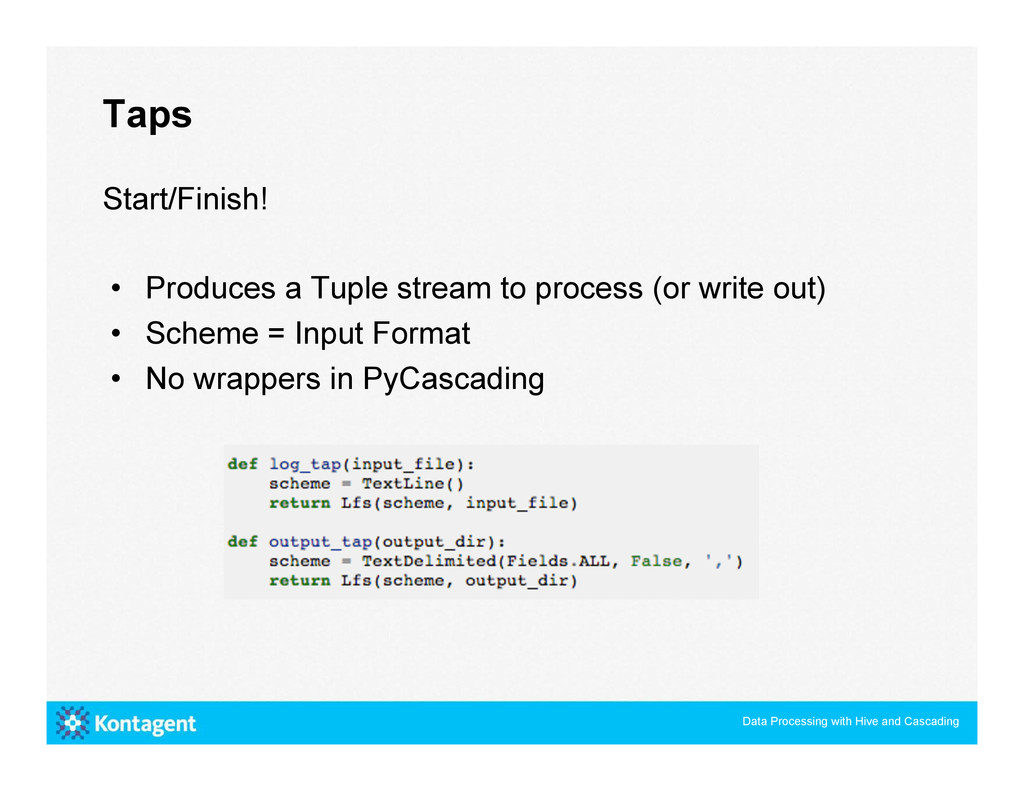 Taps Data Processing with Hive and Cascading St...
