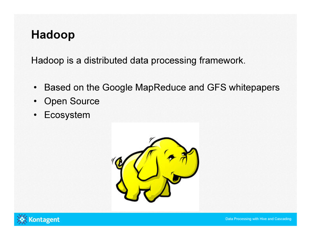 Hadoop is a distributed data processing framewo...