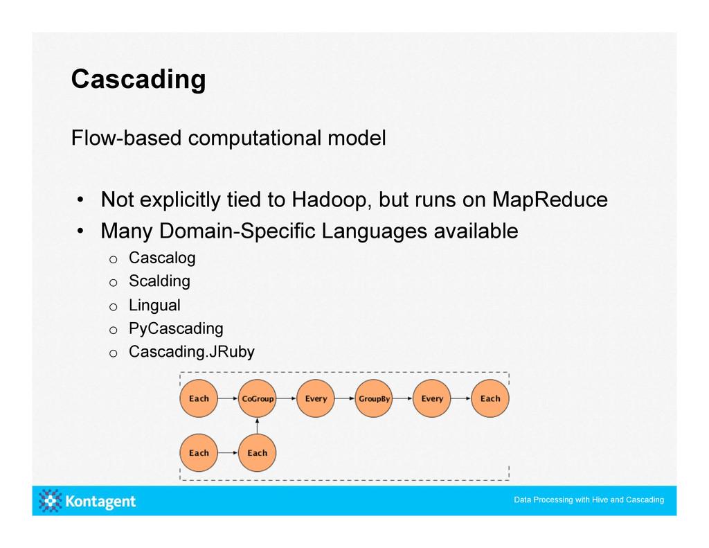 Flow-based computational model • Not explicitl...