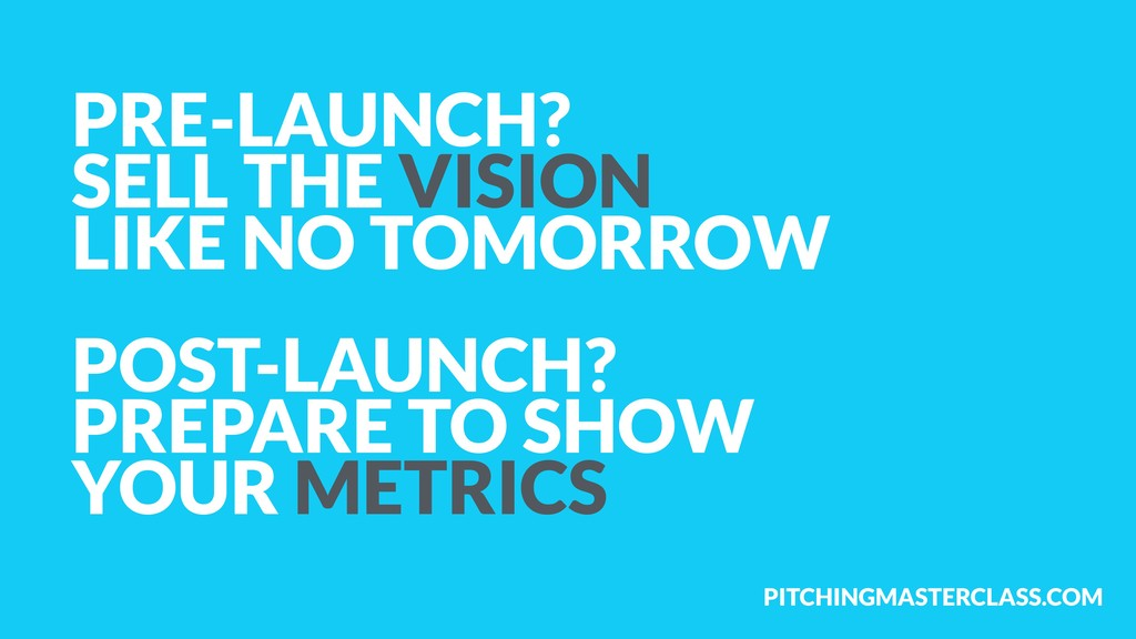 PITCHINGMASTERCLASS.COM PRE-LAUNCH?  SELL THE ...