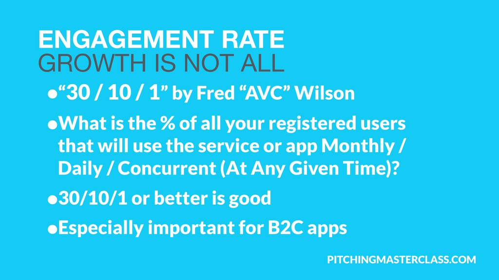 PITCHINGMASTERCLASS.COM ENGAGEMENT RATE GROWTH...
