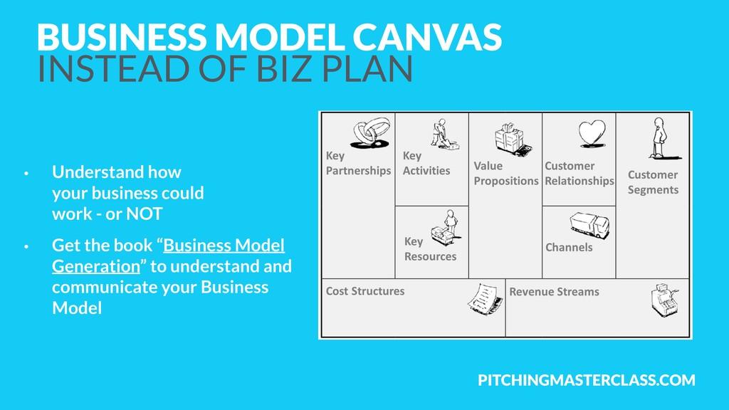 PITCHINGMASTERCLASS.COM BUSINESS MODEL CANVAS ...