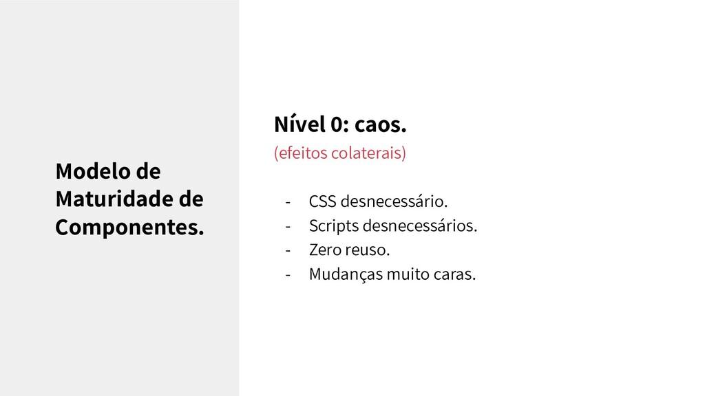 Nível 0: caos. (efeitos colaterais) - CSS desne...