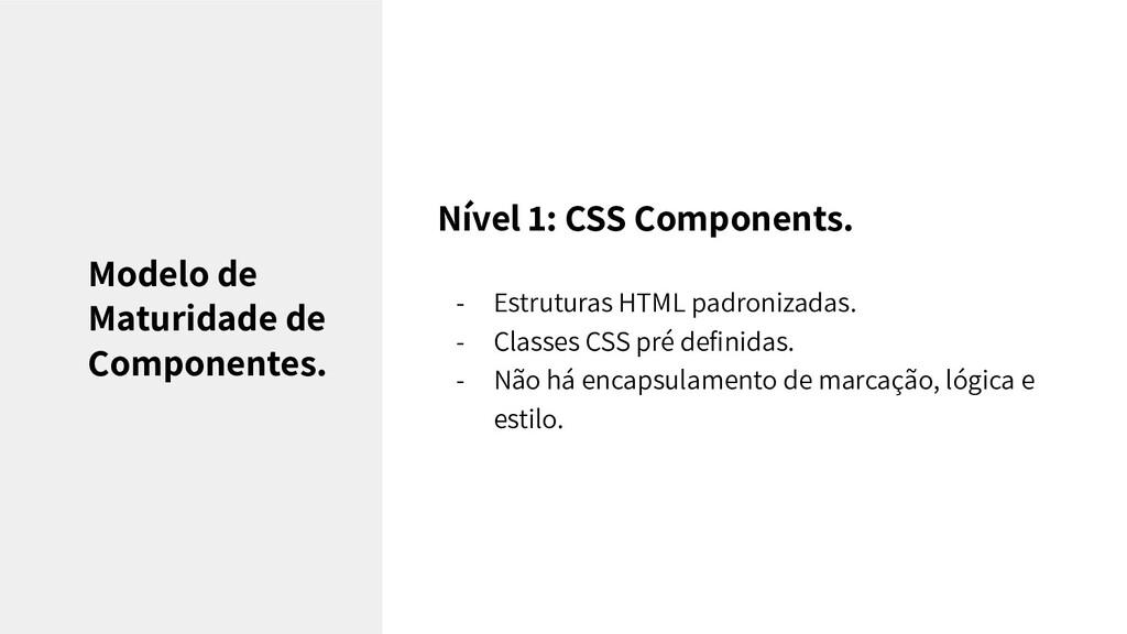 Nível 1: CSS Components. - Estruturas HTML padr...