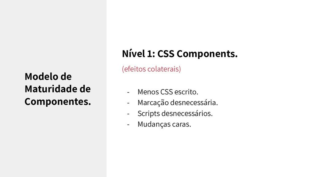 Nível 1: CSS Components. (efeitos colaterais) -...