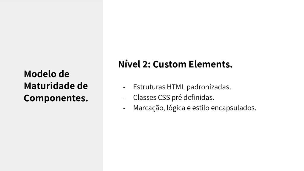 Nível 2: Custom Elements. - Estruturas HTML pad...