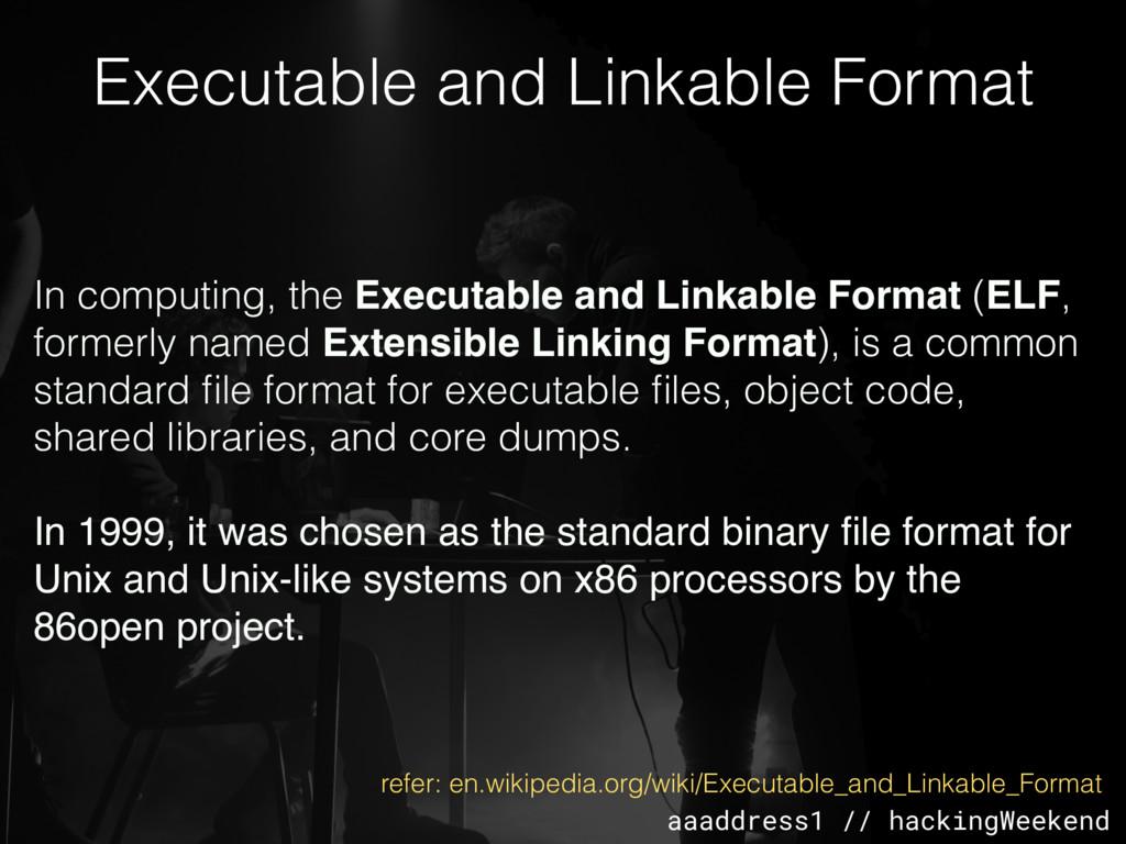 aaaddress1 // hackingWeekend Executable and Lin...