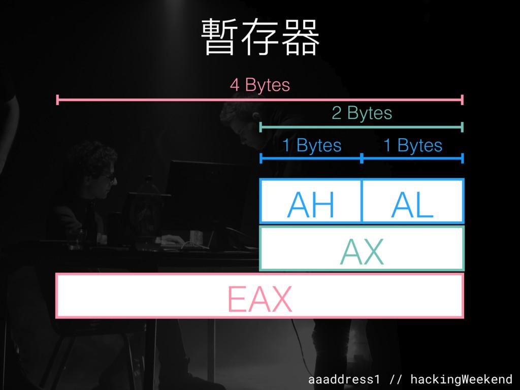 aaaddress1 // hackingWeekend 暫存器 EAX AX AH AL 4...