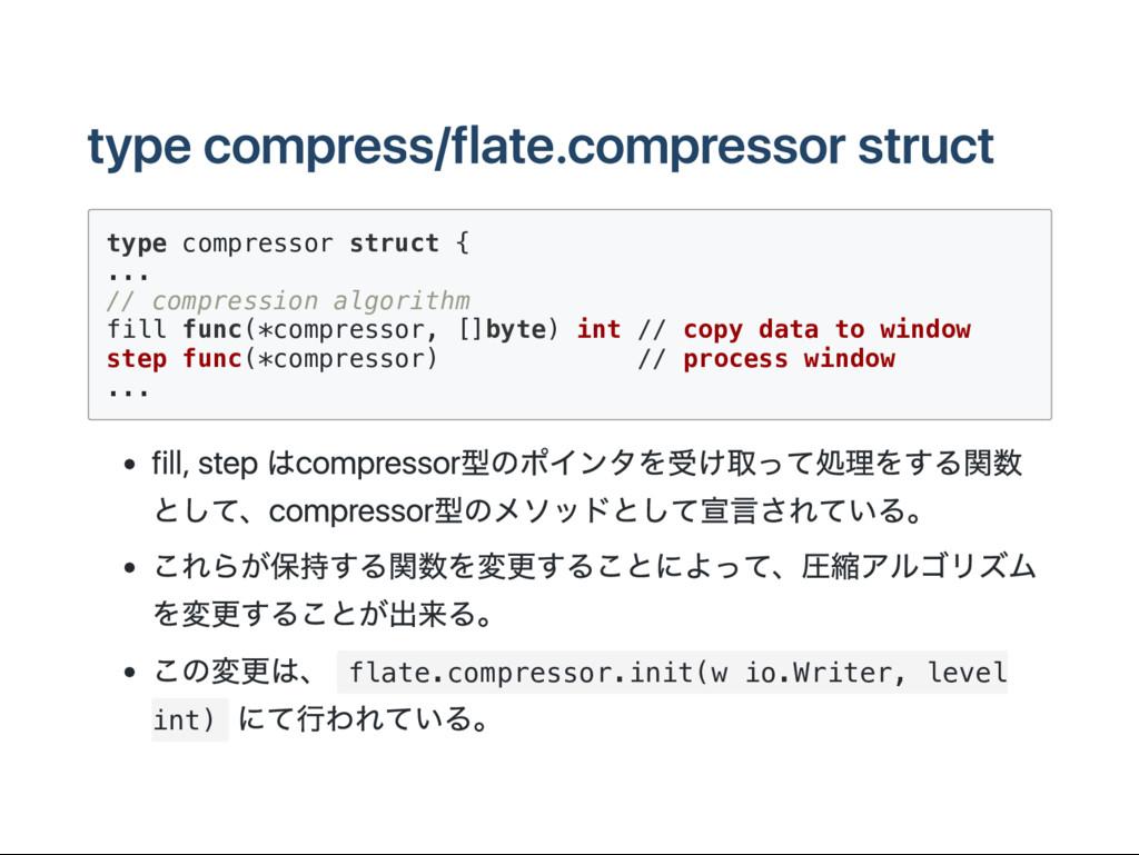 type compress/flate.compressor struct t y p e c...
