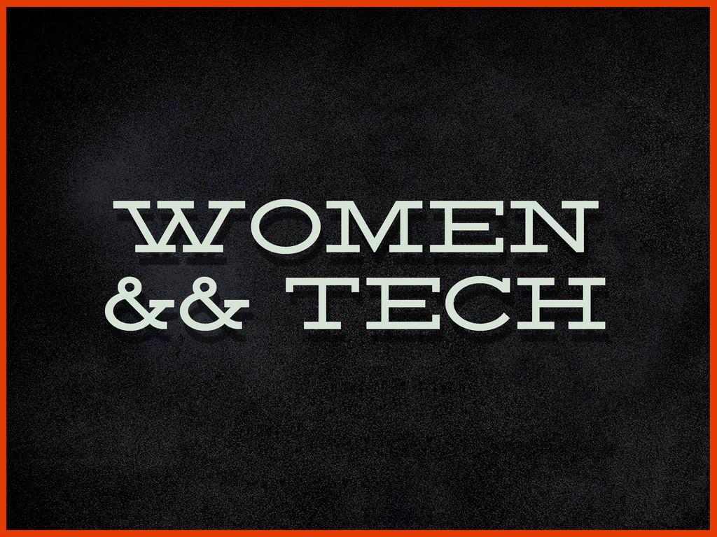 women && tech