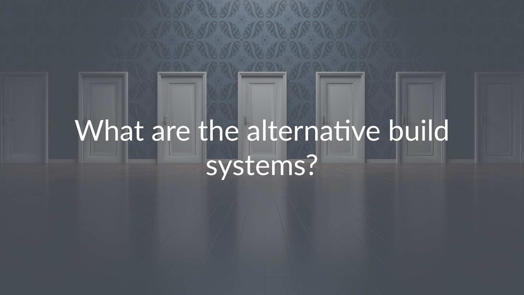 What are the alterna*ve build systems?