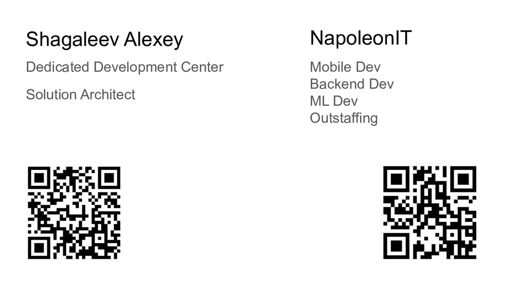 Shagaleev Alexey Solution Architect NapoleonIT ...