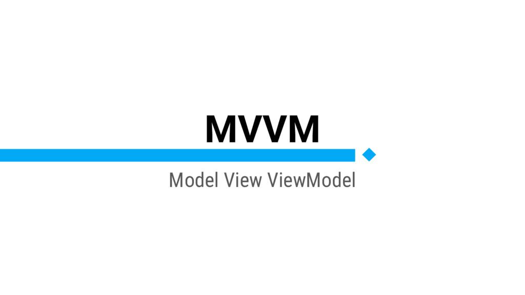 MVVM Model View ViewModel