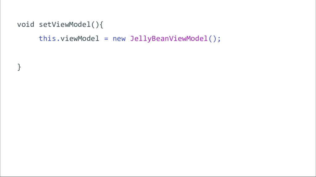 void setViewModel(){ this.viewModel = new Jelly...