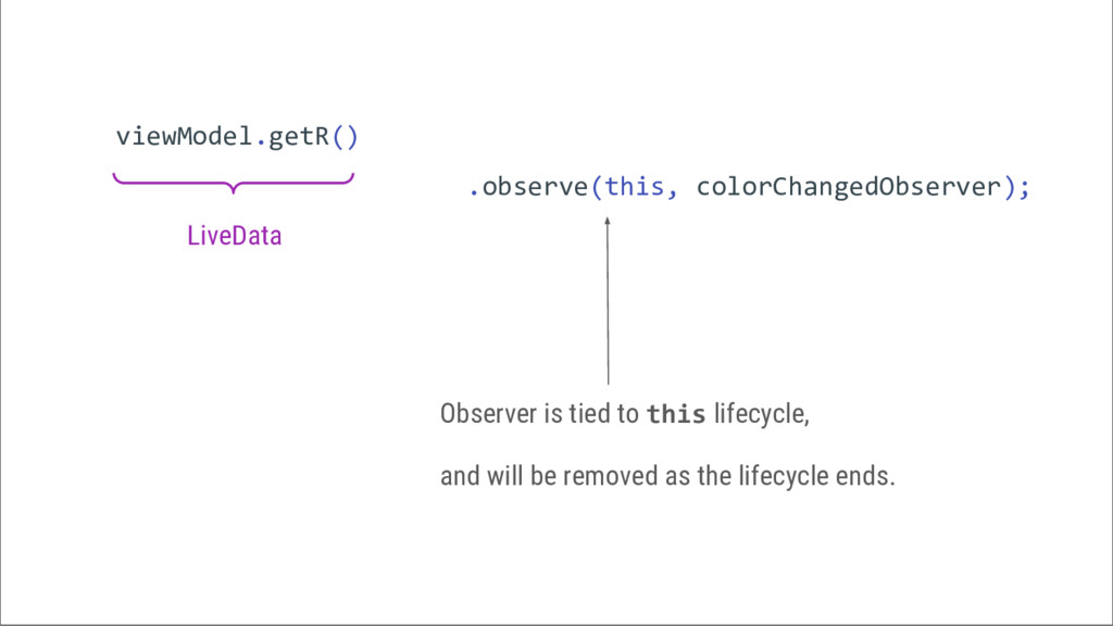 viewModel.getR() .observe(this, colorChangedObs...