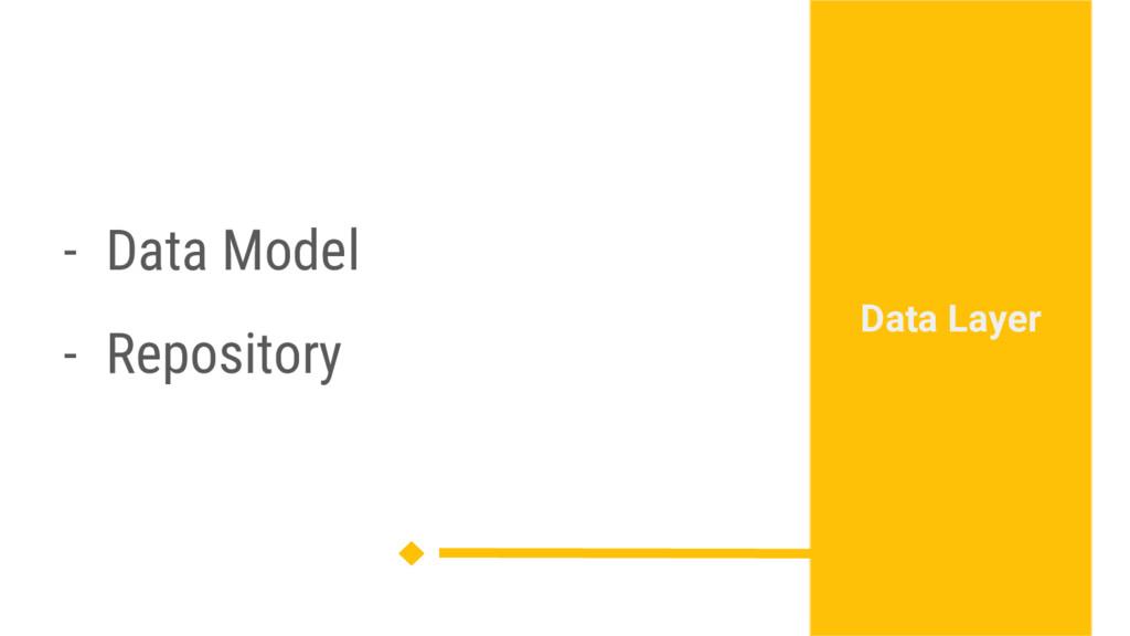 - Data Model - Repository Data Layer
