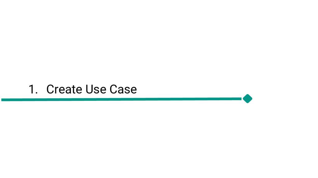 1. Create Use Case