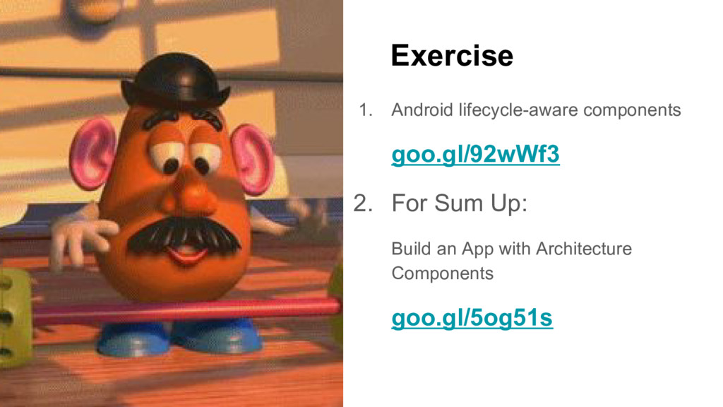 Exercise 1. Android lifecycle-aware components ...
