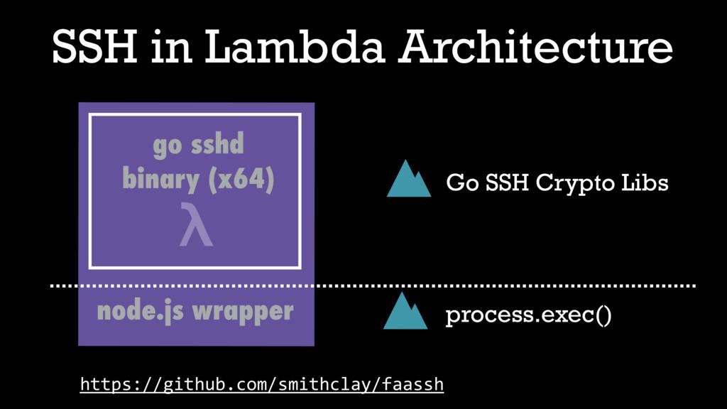 SSH in Lambda Architecture λ node.js wrapper go...