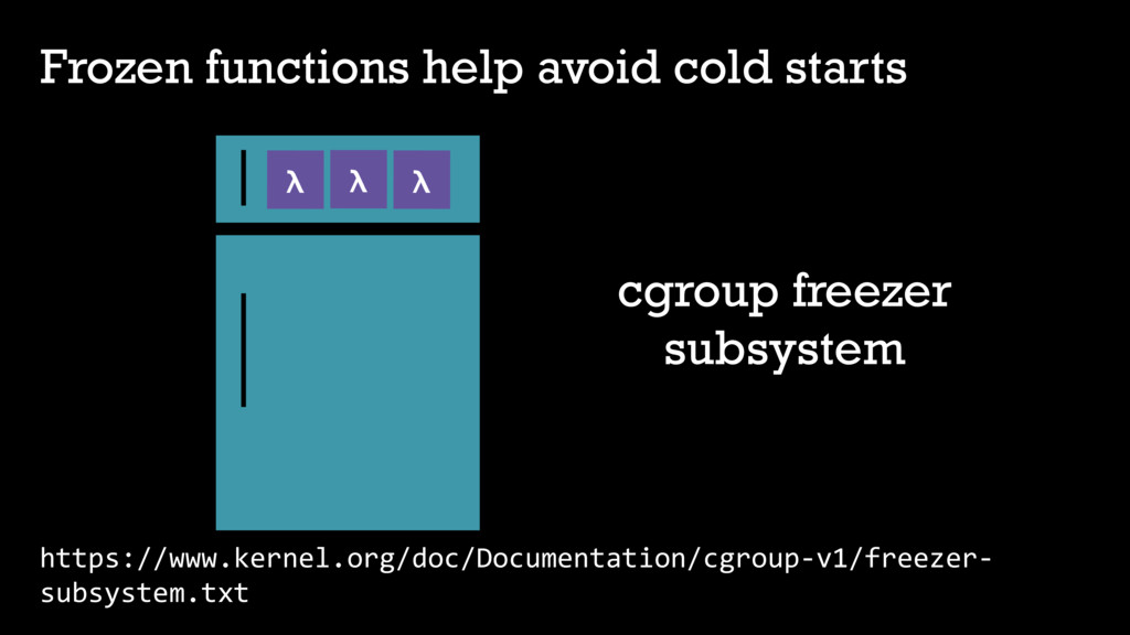 Frozen functions help avoid cold starts https:/...