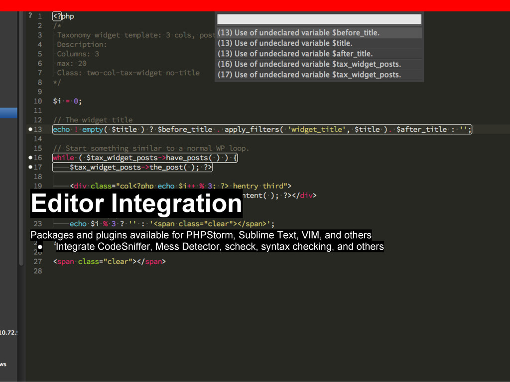 Editor Integration Packages and plugins availab...