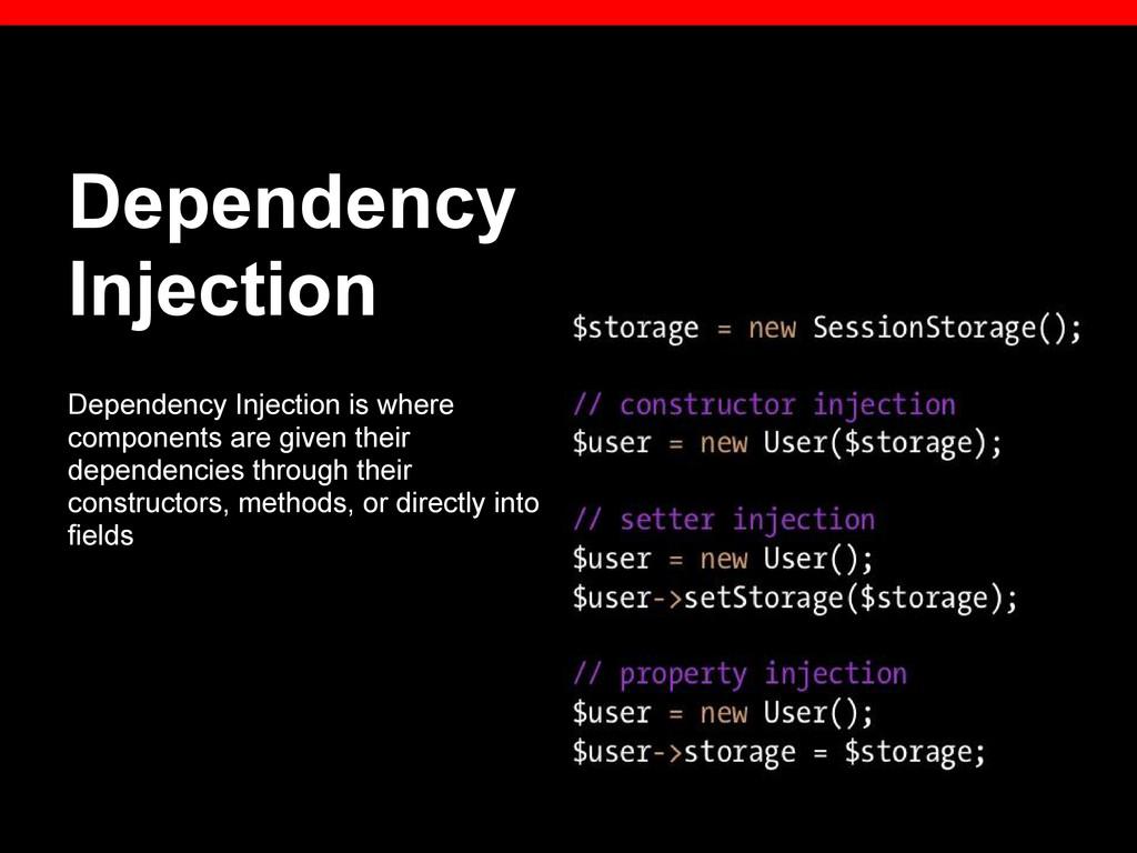 Dependency Injection Dependency Injection is wh...