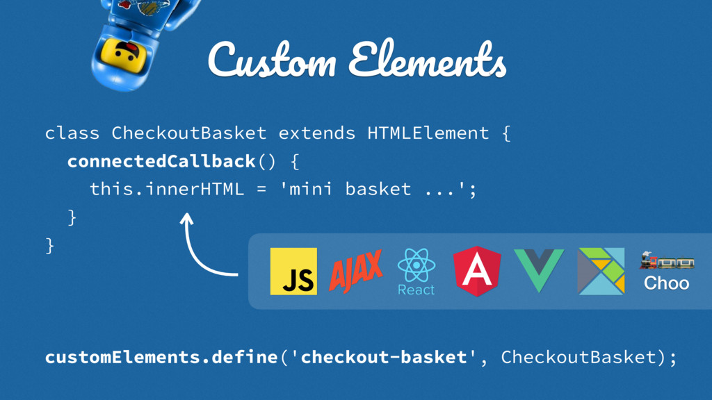 class CheckoutBasket extends HTMLElement { conn...