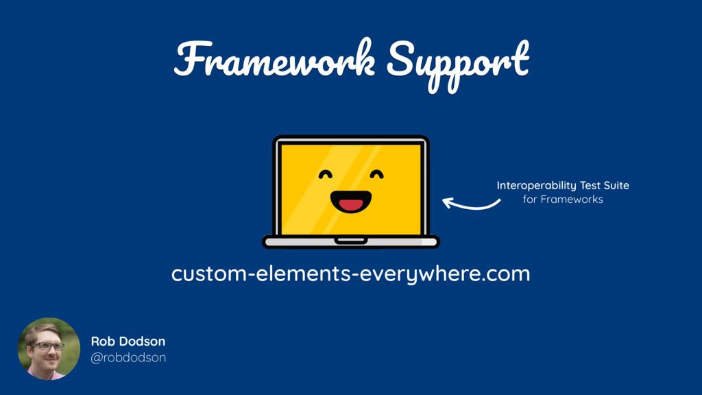 Framework Support Rob Dodson @robdodson custom...