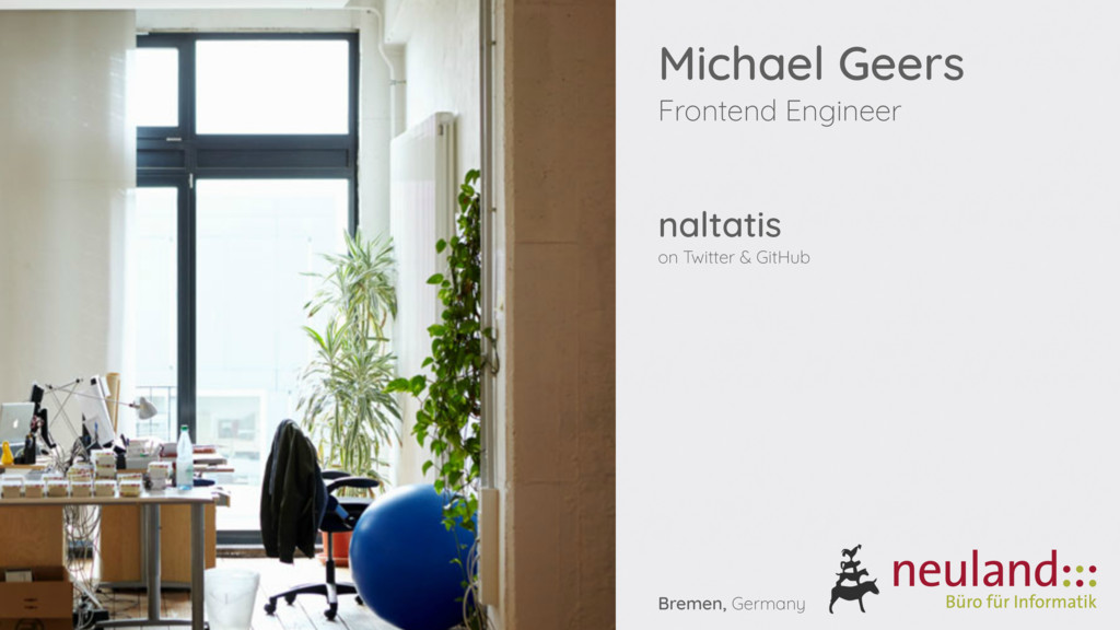 Michael Geers Frontend Engineer naltatis on Twi...