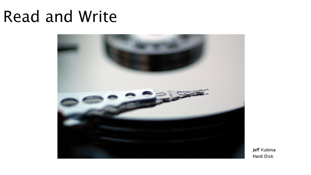 Read and Write Jeff Kubina Hard Disk