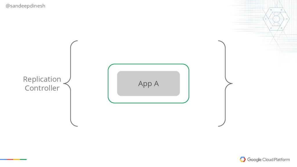 @sandeepdinesh Replication Controller App A